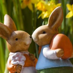 Le lapin de Pâques apporte lui aussi des oeufs de Pâques dans certaines régions. Retrouvez des infos et des tas d'idées d'activités sur le thème du lapin de Pâques.