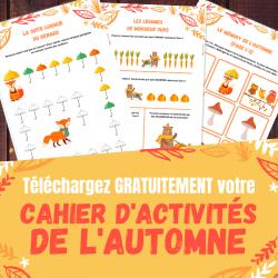 Un cahier d'activités d'automne avec des jeux, des infos et des activités créatives pour apprendre en s'amusant sur le thème de l'automne