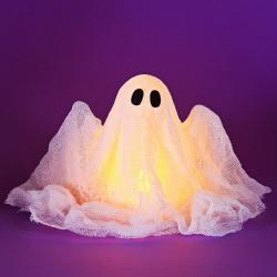 Comment faire un fantôme lumineux pour Halloween ? Créez vos décorations d'Halloween pour transformer votre maison en manoir hanté pour halloween. Cette decoration a suspendre pour halloween a la forme d'un fantome et sera parfaite pour accueillir les