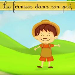Le fermier dans son pré est une chanson pour enfant très populaire en France. Retrouvez les paroles de la comptine, la vidéo ainsi que des infos sur la chanson le fermier dans son pré