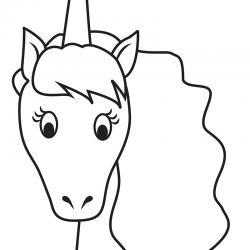 Le gabarit de la licorne arc-en-ciel à télécharge et à imprimer gratuitement
