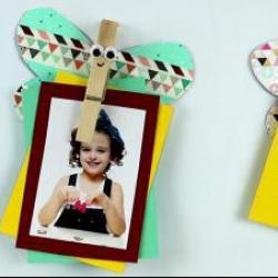 tuto pour bricoler avec les enfants un magnet papillon avec pince à linge