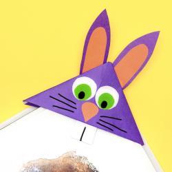 Très faciles et économiques, ce petit lapin servira à vos enfants pour marquer les pages de leurs livres et cahiers. Une activité parfaite pour Pâques.