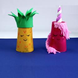 activité de bricolage enfant pour réaliser un photophore licorne en gobelet