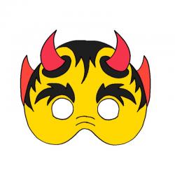 Masque de diable de toutes sortes pour le déguisement des enfants : masques de diable à imprimer, bricolage de masque de diable