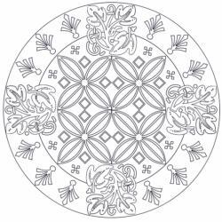 Cette rubrique regroupe tous les mandalas de difficulté intermédiaires soit par ce que les motifs contenus dans le mandala commencent à être complexes soit par ce que leur nombre commence à être important. Des coloriages de mandala entre mandalas simples