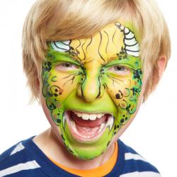 Comment maquiller son enfant en dinosaure ? Transformer les enfants en dinosaure avec un simple maquillage. Un maquillage pour compléter un déguisement ou pour amuser les enfants pendant une fête d'enfants ou un anniversaire.