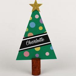 Un tuto pour fabriquer des marque-place sapin de Noël en papier