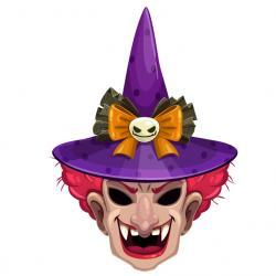 Si tu veux te déguiser en sorcière. Ce masque est à imprimer pour Halloween. Il vous suffira de le découper et de la monter afin d'être déguisé en effrayante sorcière pour Halloween