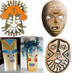 Masque africain maternelle et primaire