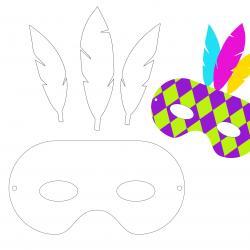Imprimez ce masque de Carnaval et montez les éléments afin de créez votre masque de Carnaval. Cela permet aux enfants de laisser parler leur créativité pour le Carnaval.