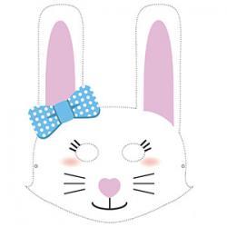 Un masque de lapin à imprimer gratuitement pour le Carnaval. copie