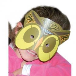 Masque hibou à gommettes