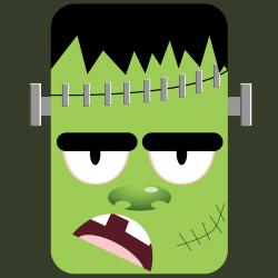 Masque d'Halloween à imprimer gratuitement afin d'avoir un déguisement de monstre de Frankenstein de dernière minute. Il suffira de l'imprimer sur du papier épais, de la découper afin de pouvoir partir à la chasse aux bonbons !