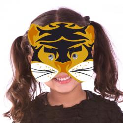 Masque tigre à gommettes