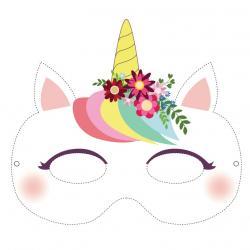 Masques prêts à imprimer pour le déguisement et le jeu des enfants. Les masques sont à imprimer, à découper et c'est prêt ! Des masques colorés pour les filles et les garçons à faire en moins d'1/4 d'heure.