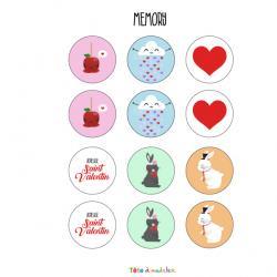 Le jeu du memory de Saint Valentin est très drôle à faire durant la Saint Valentin ! Retrouvez les couples en utilisant votre mémoire. Imprimez la feuille et proposer à votre enfant de résoudre ces énigmes.