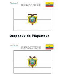 Mini drapeau de l'Equateur à imprimer