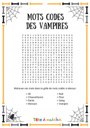 Voici un jeu de mots codés d'Halloween. Un jeu Halloween à imprimer gratuitement. Page 4