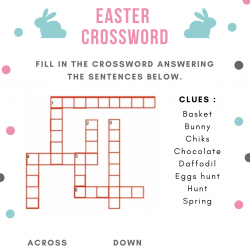 Des mots croisés en anglais à imprimer à l'occasion de Pâques. Une grille pour progresser en anglais et décou...