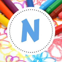 Coloriage prénom commençant par la lettre N