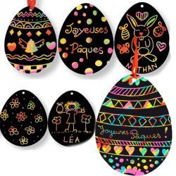 Oeufs de Pâques en carte à gratter