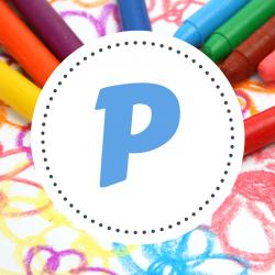 P - Coloriage prénom avec la lettre P