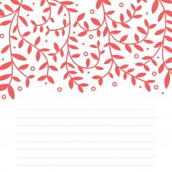 Imprimez ce modèle de papier à lettre orné du dessin de deux petits amoureux. Un papier à lettre fond rose.