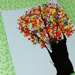 activité de bricolages enfants pour réaliser une peinture à la paille