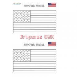 Petits drapeaux américains à imprimer