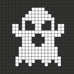 Comment faire un pixel art avec les maternelles? Tout simplement en suivant notre modèle à imprimer gratuitement. Imprimez notre quadrillage et reproduisez le fantôme pour créer de la décoration d'Halloween. Simple et rapide à faire même avec les plus pet