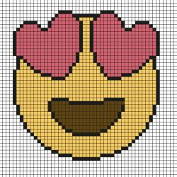 Un modèle de Pixel Art qui représente une potion d'amour. . Imprimez gratuitement  notre modèle simple qui vous permettra de créer facilement une potion en Pixel Art. Il vous suffira de prendre du papier quadrillé et de suivre notre modèle carré ap