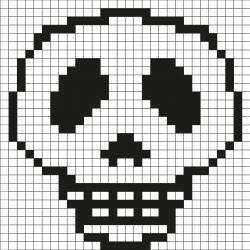 Grille De Pixel Art Par Tête à Modeler
