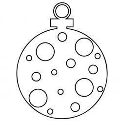 Pochoir boule de Noël à imprimer afin de décorer la mason. Il suffit de découper en suivant les traits.