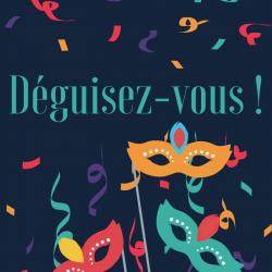 Poème sur le thème du Carnaval. Une poésie faisant référence aux personnages de la Commedia dell'Arte : Arlequin, Colombine, Polichinelle . Le poème convient aux enfants du primaire .Une po