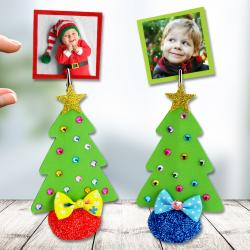 Pour Noël nous allons fabriquer des sapins trop mignons qui vous permettront d'accrocher vos plus jolies photos de famille ! Ces jolis sapins pourront également être utilisés comme des marque-places pour les repas de fêtes.  Une activité créative co