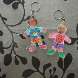Tuto porte clés super héros Fête des pères