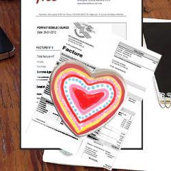 Grand cœur en verre Presse-papier
