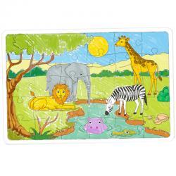 Puzzle sur L'AFRIQUE en carton blanc à colorier