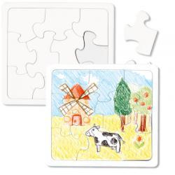 Puzzles 10 pièces à colorier avec fond