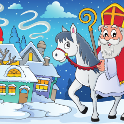Saint Nicolas, déguisé, va de maison en maison dans la nuit du 5 au 6 décembre pour demander aux enfants s'ils ont été obéissants. Les enfants sages reçoivent des cadeaux, des friandises ou du chocolat. Retrouvez la tradition et la légende de Saint Nicola