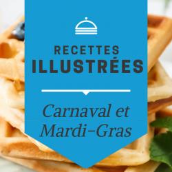 Retrouvez les recettes de crêpes, de beignets et autres plats typiques du Carnaval illustrées en pas à pas pour les enfants. Chaque étape est illustrée et expliquée.