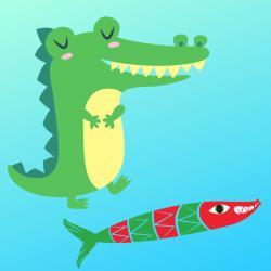Lire et chanter une chanson  : Sardine et crocodile, une chanson pour les enfants.