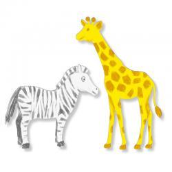 Silhouettes d'animaux d'Afrique à colorier