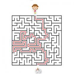 Solution du jeu de labyrinthe à imprimer sur le thème du carnaval copie