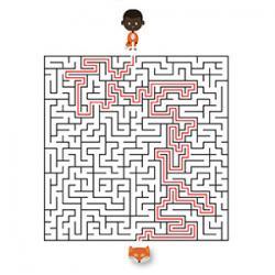 Un jeu de labyrinthe à imprimer sur le thème du carnaval copie