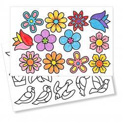Stickers à colorier pour la décoration
