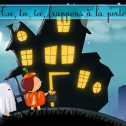 "Paroles de la chanson Halloween ""Toc, toc, toc, frappons à la porte"" à écouter et paroles à imprimer"