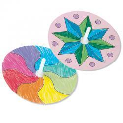 Toupies effet d'optique à colorier