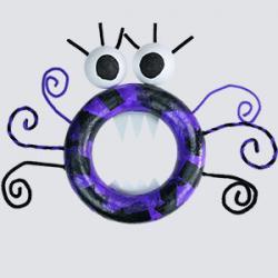 Un tuto en vidéo pour réaliser pas à pas une couronne d'halloween monstre en polystyrène. Une activité manuelle d'halloween facile pour faire une jolie décoration ou pour faire un jeu de gob'tout.